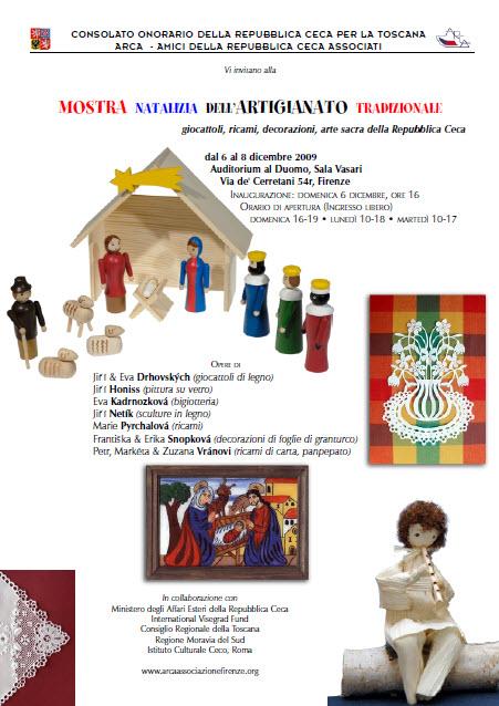 6 – 7 – 8 dicembre 2009: Mostra Mercato di Natale dell'artigianato tradizionale della Repubblica Ceca