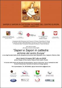 Il Progetto Saperi e Sapori in Cattedra 2011