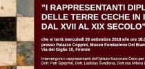 """Mercoledì 26 settembre al Caffè inaugura mostra """"I rappresentanti diplomatici delle terre ceche in Italia dal XVII al XIX secolo"""""""
